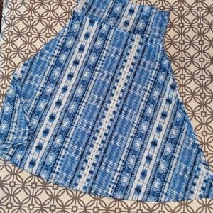 LuLaRoe blue and white print XS skirt skirt